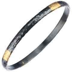 """Lika Behar """"Fusion"""" Bangle Bracelet in 24 Karat Yellow Gold"""