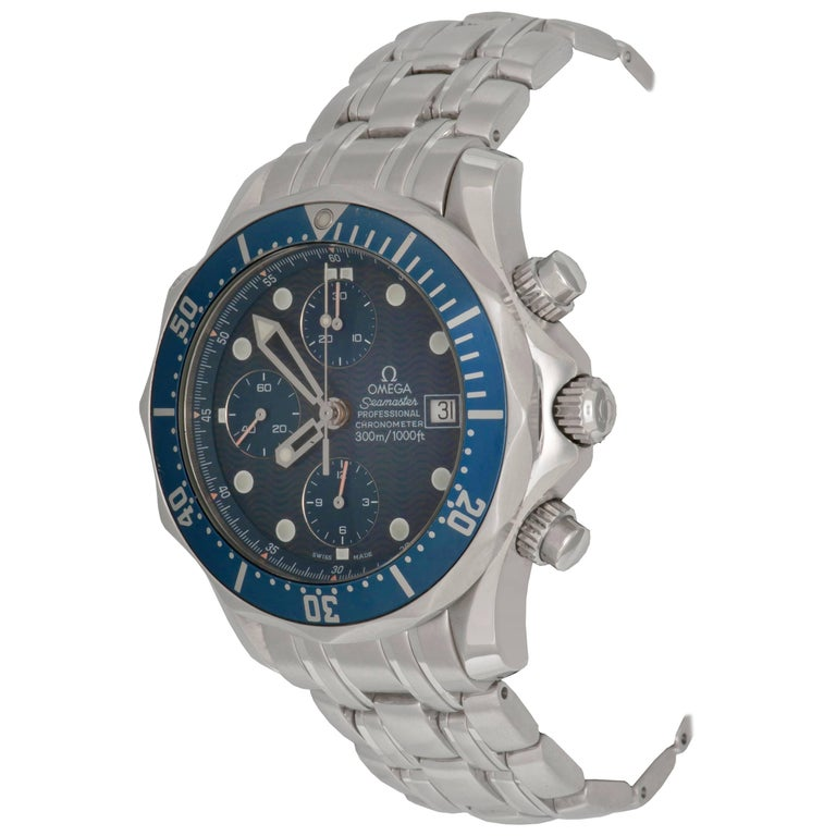 Omega Stainless Steel Seamaster Professional Chronograph Automatic Wristwatch For Sale
