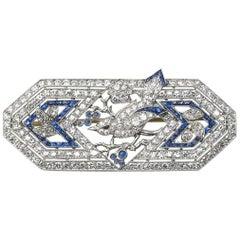 Marcus & Co Sapphire Diamond Bird Brooch