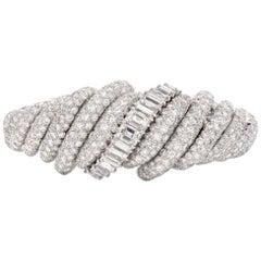 David Webb Breaththaking Diamond Platinum Bracelet with Watch