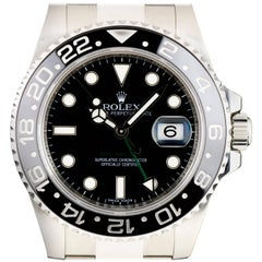 Rolex Stainless Steel Black Dial Ceramic Bezel GMT-Master II Automatic Watch