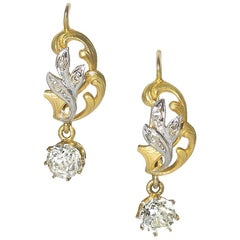 Old Cut Diamond Drop Earrings
