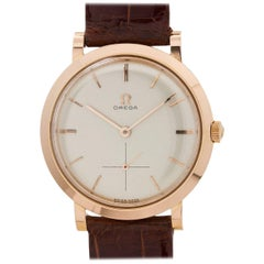 Omega Rose Gold Dress Model Manual Wristwatch, circa 1956