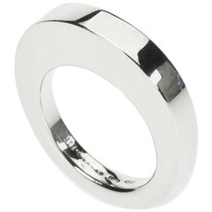 "Vhernier 18 Karat White Gold ""Rewind One"" Stackable Band Ring"