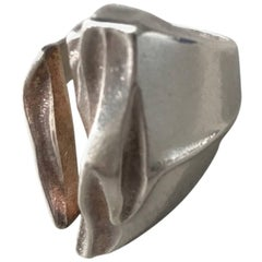"""Lapponia Sterling Silver """"Darina"""" Ring by Bjorn Weckstrom (Size 8)"""