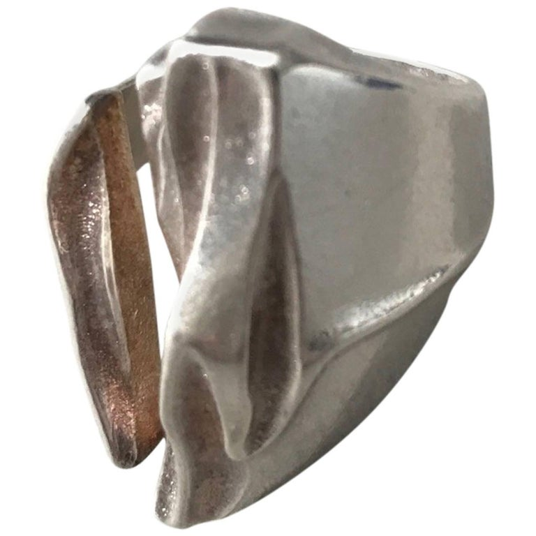 "Lapponia Sterling Silver ""Darina"" Ring by Bjorn Weckstrom"
