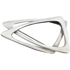 "Sterling Silver ""Triangles"" Brooch by Poul Warmind"