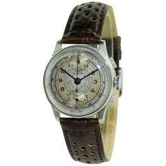 Clinton by Buren Stainless Steel Chronograph Manual Wind Wristwatch