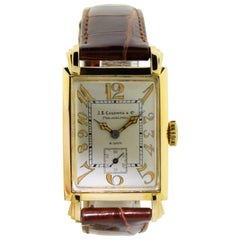 J.E. Caldwell Yellow Gold 8 Day Art Deco Manual Watch