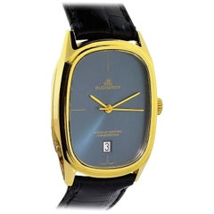 Bucherer Yellow Gold Date Chronometer Automatic Wristwatch