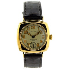 Patek Philippe Yellow Gold Cushion Shaped Manual Watch, circa 1916