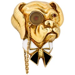 Van Cleef & Arpels Churchill Bulldog Brooch