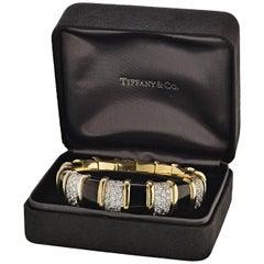 Tiffany & Co., Schlumberger Enamel and Diamond Bangle Bracelet