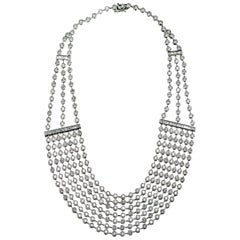 47.6 Carat of Diamonds Draperie White Gold Necklace
