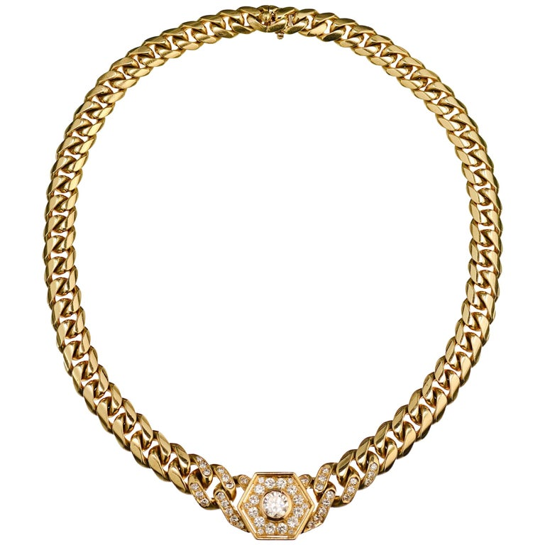 Bulgari Gold and Diamond Pendant Choker