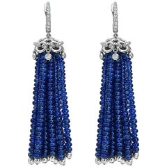 Diamond Sapphire Drop Earrings