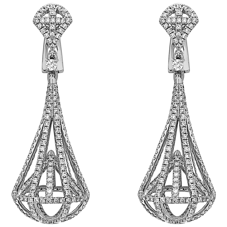 Emilio Jewelry Diamond Lantern  Earrings