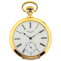 Vacheron Constantin Yellow Gold Open Faced Manual Winding Pocket Watch