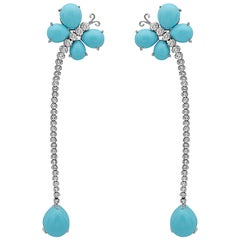 Cabochon Turquoise Earrings