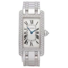 Cartier Ladies Yellow Gold Tank Americaine Quartz Wristwatch Ref 2489, 2000s