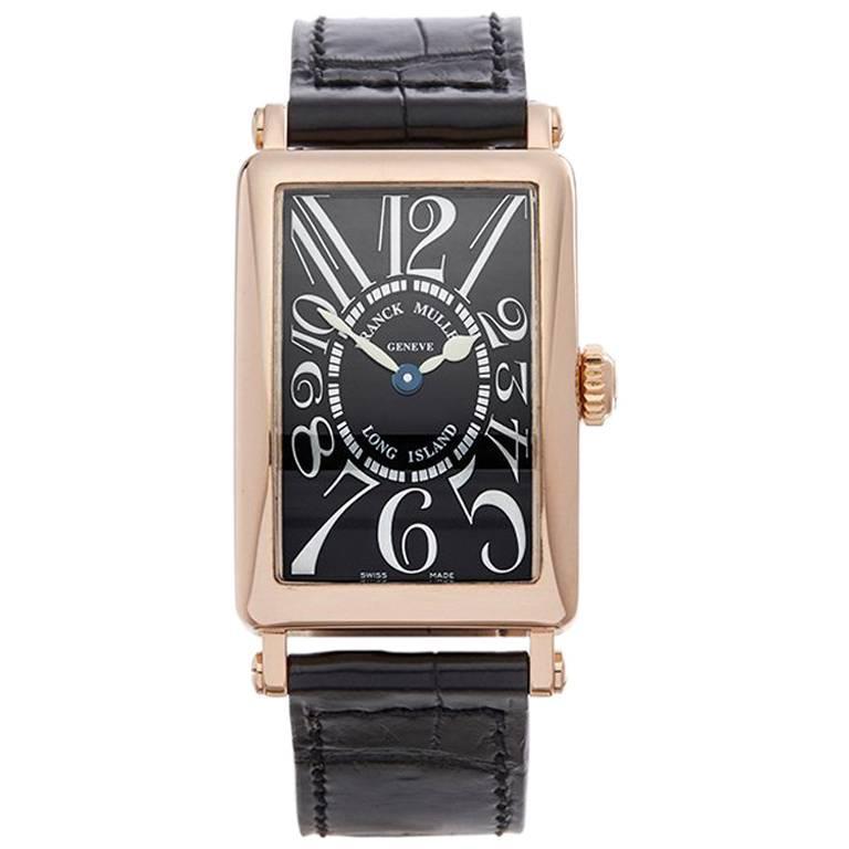 Franck Muller Ladies Rose Gold Long Island Quartz Wristwatch Ref 902QZ, 2000