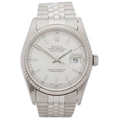 Rolex White Gold Stainless Steel Datejust Automatic Wristwatch Ref 16234, 1995