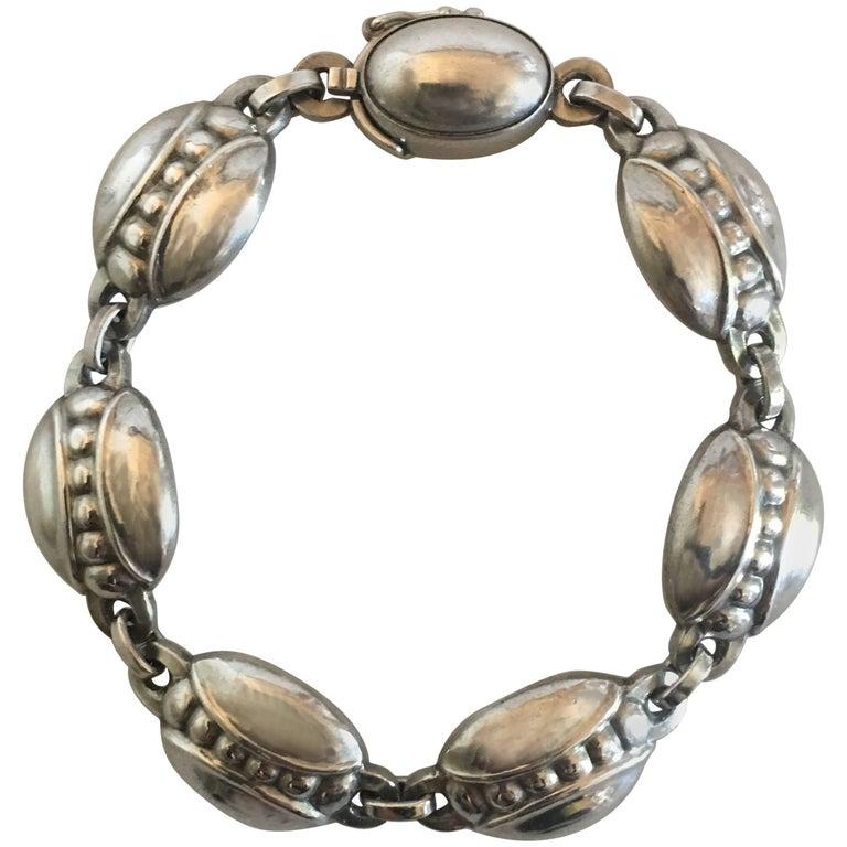 Georg Jensen Sterling Silver Bracelet No. 6