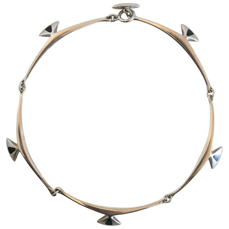 Hans Hansen Sterling Silver Necklace No. 317E