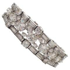 30 Carat Platinum Diamond Bracelet