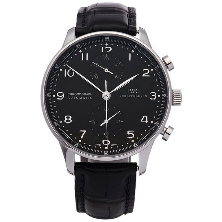 IWC Stainless Steel Portuguese Chronograph Automatic Wristwatch, 2010s