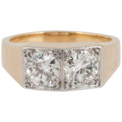 French Dress Ring with Diamonds