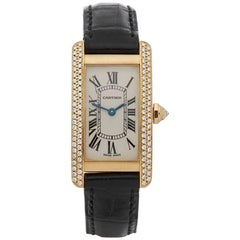 Cartier Ladies Yellow Gold Tank Americaine Quartz Wristwatch Ref WB701251, 1990s