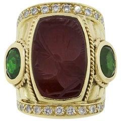 Large Carnelian Intaglio Ring
