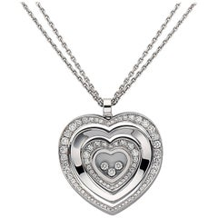 Emilio Jewelry Chopard Diamond Heart Necklace