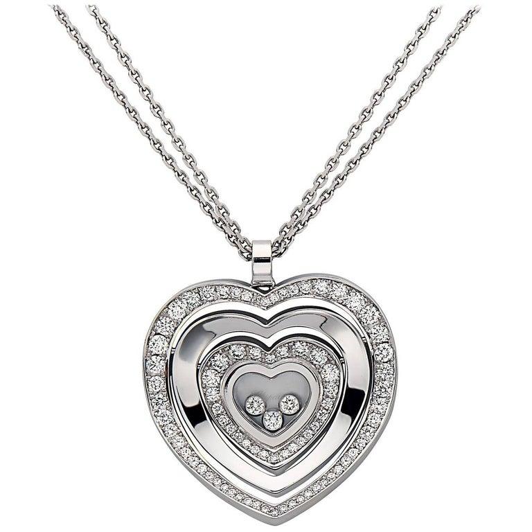 Emilio Jewelry Chopard Diamond Heart Necklace
