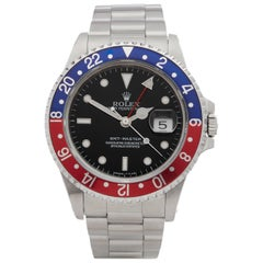 Rolex Stainless Steel GMT-Master II Pepsi Automatic Wristwatch Ref 16700, 1990