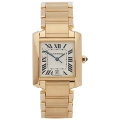 Cartier Yellow Gold Tank Francaise Automatic Wristwatch Ref 1840, 2010