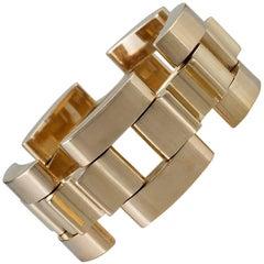 Tiffany & Co. Retro Gold Link 'Tank Track' Bracelet