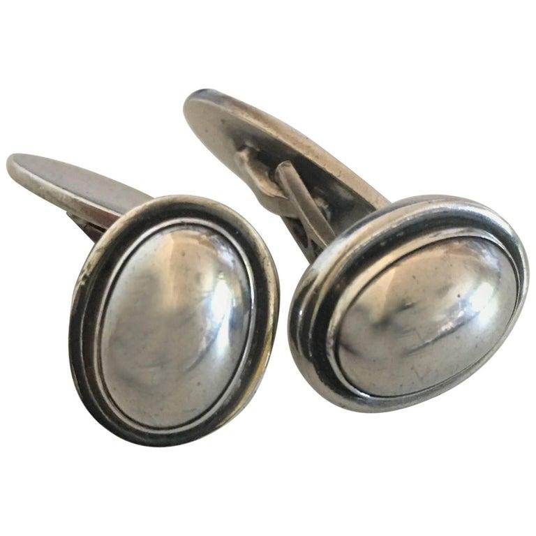 georg jensen sterling silver cufflinks no 44 for sale at. Black Bedroom Furniture Sets. Home Design Ideas