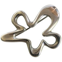 Georg Jensen Sterling Silver Henning Koppel Splash Brooch No. 321
