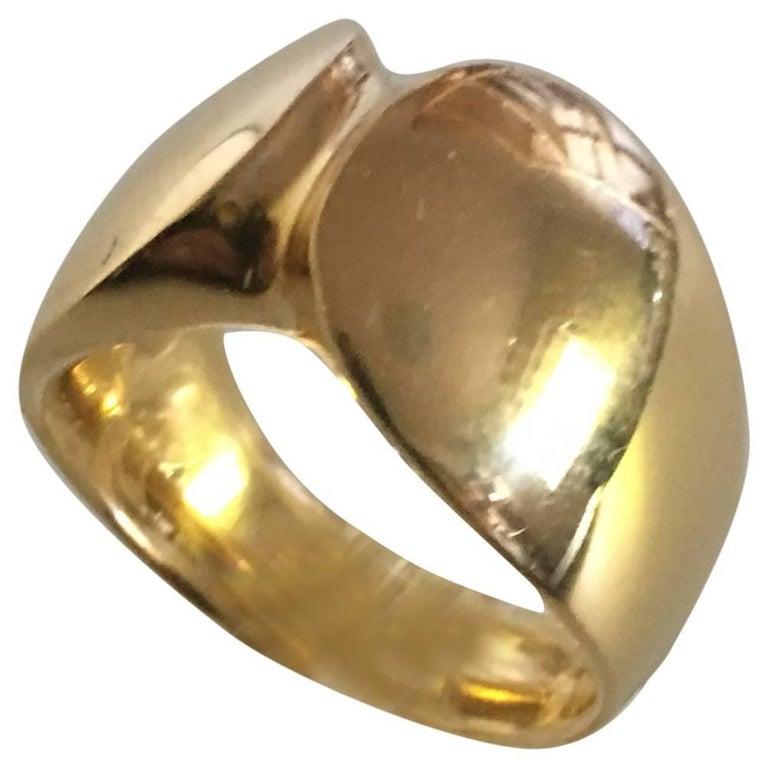 Georg Jensen 18 Karat Gold Nanna Ditzel Ring