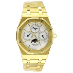 Audemars Piguet Yellow Gold Royal Oak Moonphase Automatic Wristwatch