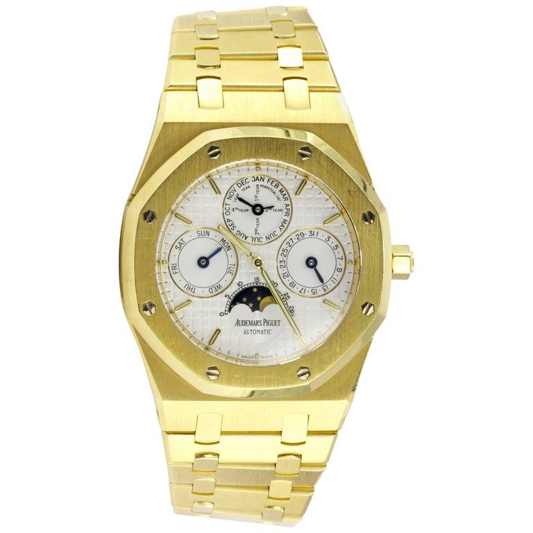Audemars Piguet Yellow Gold Royal Oak Moonphase Automatic Wristwatch