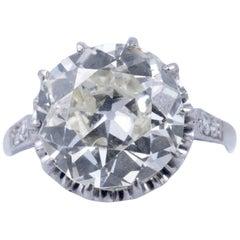 Magnificent 5.35 Carat European Cut Diamond Solitaire