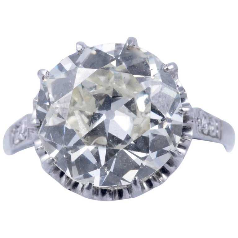 Magnificent 5.35 Carat European Cut Diamond Solitaire 1
