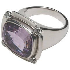Annabel Eley 11 Carat Lavender Amethyst Diamond Cocktail Ring
