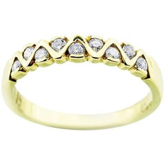 Yellow Gold Petit with Brilliant Cut Diamonds Ring