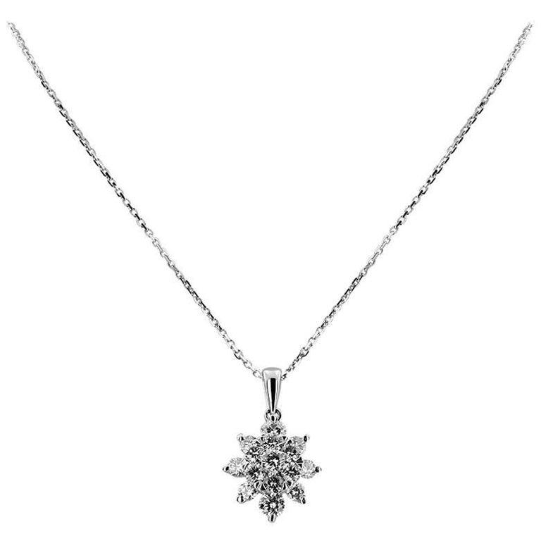 White Gold with Brilliant Cut 0.46 ct Diamonds Pendant