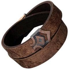 Arminius Leather Bracelet with Rose Gold Details