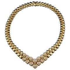 Van Cleef & Arpels Gold and Diamonds Necklace, circa 1970
